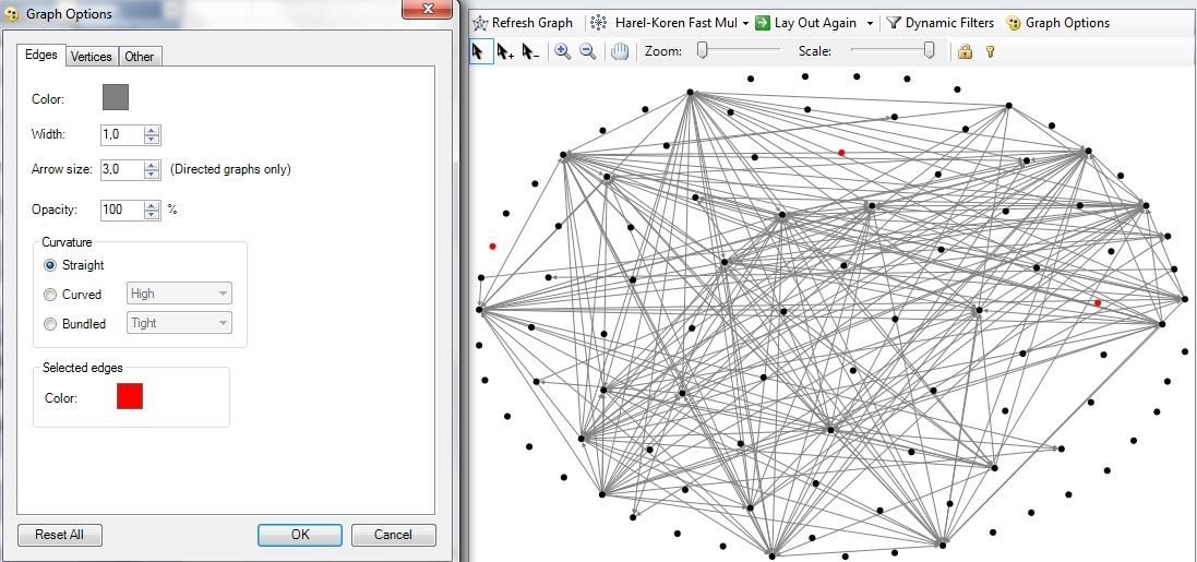 Visualisation avec NodeXL